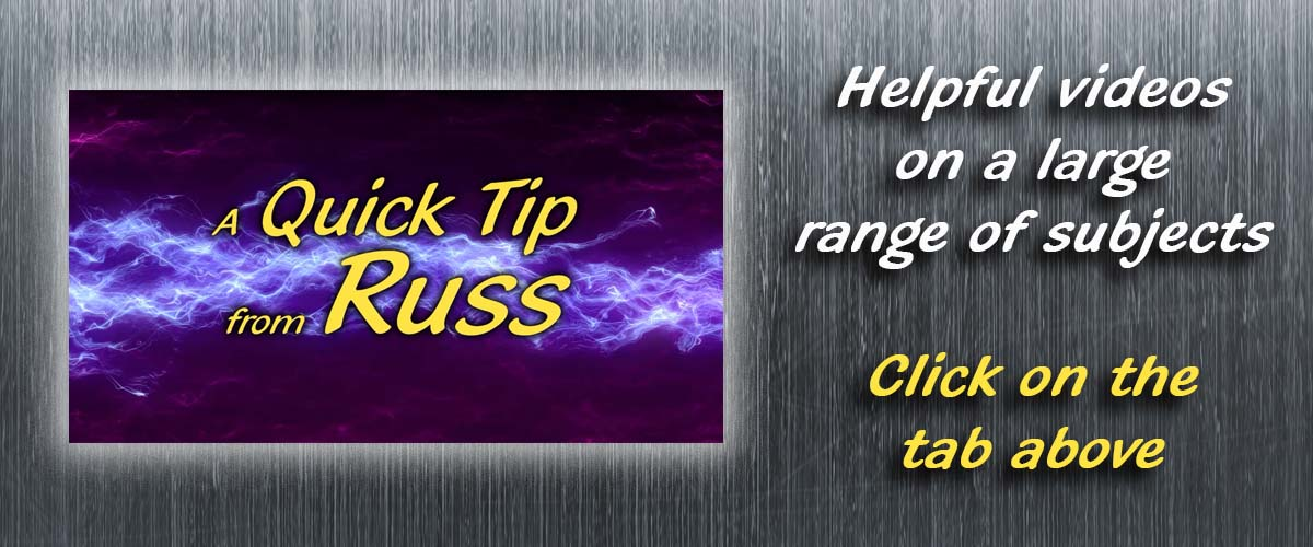 A Quick Tip from Russ